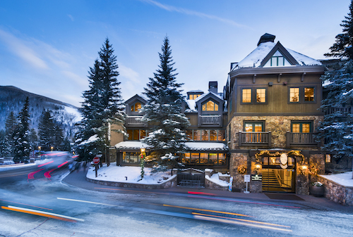 Vail Mountain Lodge Winter Exterior